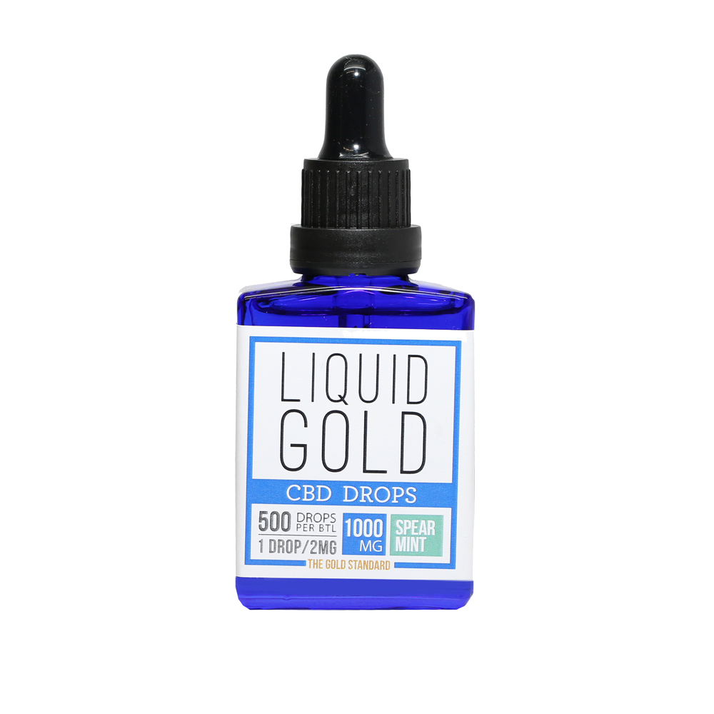 Spearmint CBD Tincture | 1000mg | Liquid Gold Products