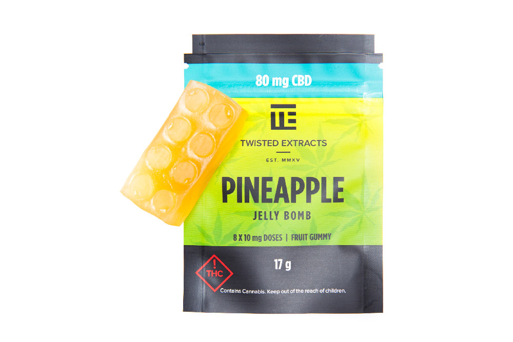 Twisted Extracts | CBD Pineapple Jelly Bomb | 80mg CBD